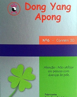 APONG 6 PONTOS DONG YANG COM ADESIVO CX C/ 30 UNDS-0